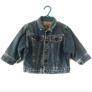Vintage Little Levi's Acid Wash Denim Jacket 24mo